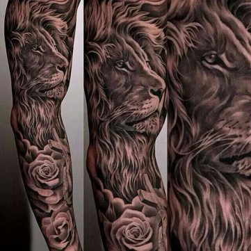 lion-sleeve-tattoo-for-guys