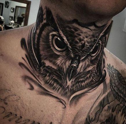 owl-neck-tattoo-for-guys